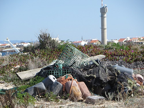 Faro Litter on the beach<br /> Coastline - Beach, Pollution/Litter/Relics
